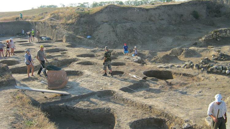 Vista de uno de los lugares de excavaciones