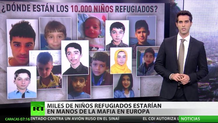 Miles de niños refugiados estarían en manos de la mafia en Europa