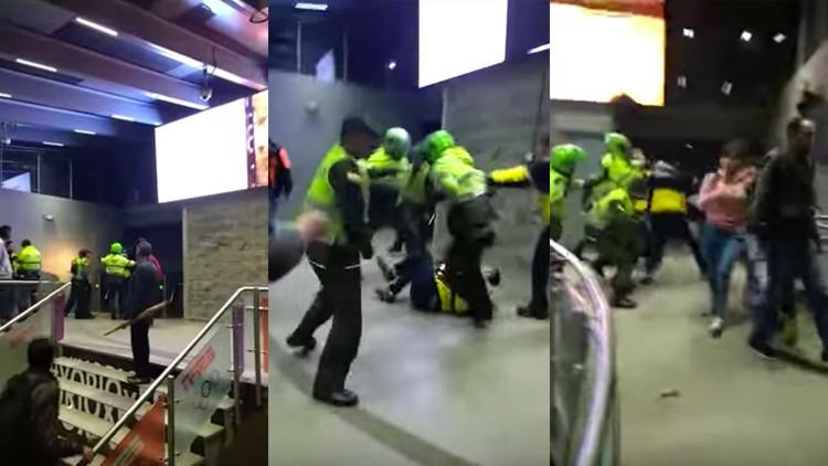Colombia: Hacían un reportaje y terminaron con una golpiza de la policía (video)