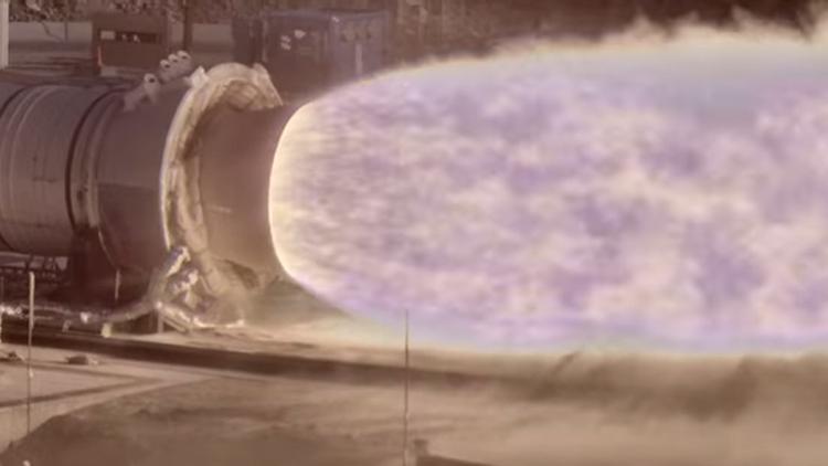 Chorro de una turbina de cohete captado con la cámara HiDyRS-X (High Dynamic Range Stereo X)