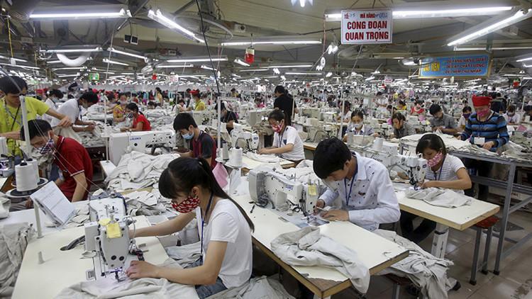 Un taller de costura vietnamita