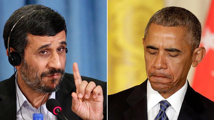 """Ahmadineyad a Obama: """"Está a tiempo de arreglar el pasado amargo y devolver su dinero a Irán"""""""