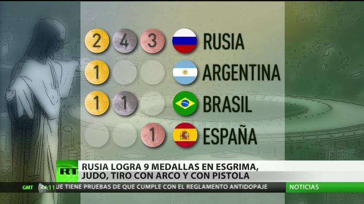Rusia logra 9 medallas en esgrima, judo, tiro con arco y con pistola