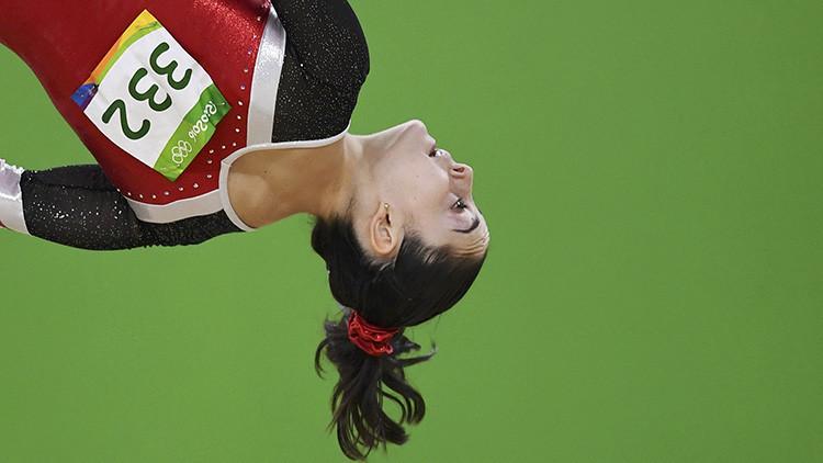 Foto: La increíble diferencia de tamaño entre dos deportistas olímpicos de España