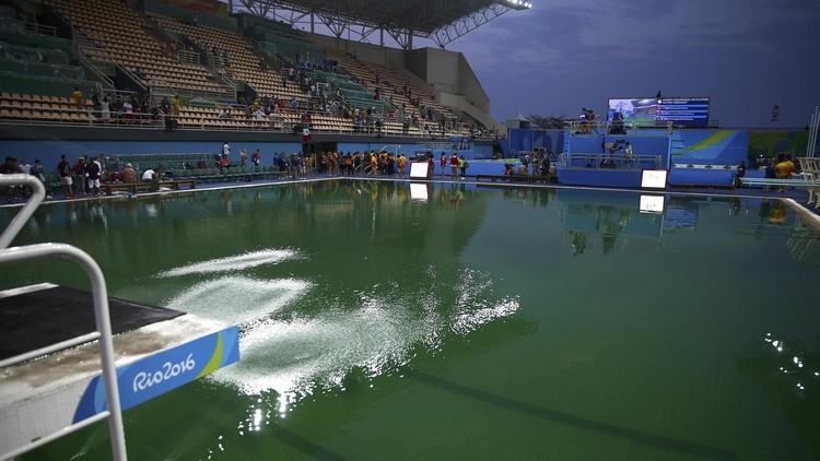 Río 2016: Revelan por qué se volvió verde el agua de la piscina olímpica