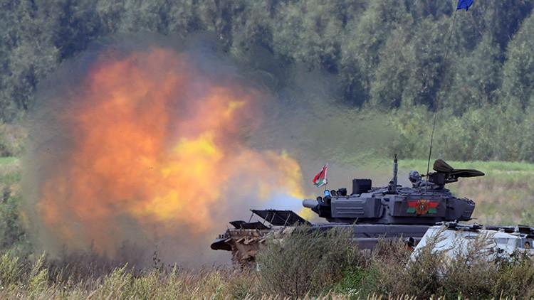 Video: Los impresionantes juegos del biatlón de tanques militares llegan a su fase semifinal