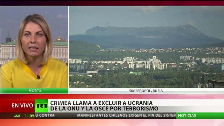 Crimea llama a excluir a Ucrania de la ONU y la OSCE por terrorismo