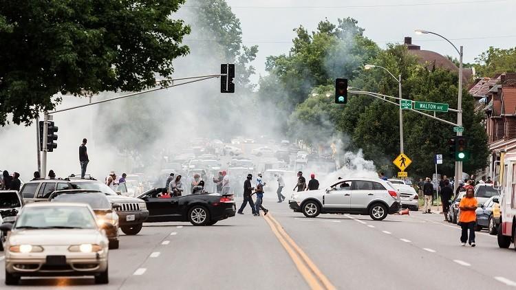 FUERTES IMÁGENES: Un coche atropella a un manifestante de Black Lives Matter en EE.UU.