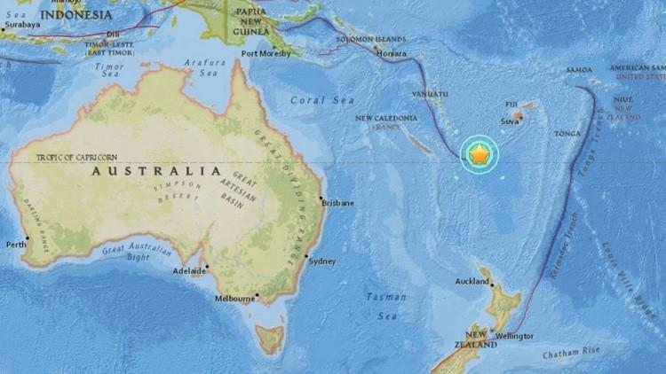 Un terremoto de magnitud 7,2 sacude las islas Fiyi y Nueva Caledonia