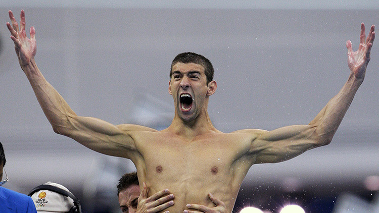 ¡Imparable! Phelps rompe un récord olímpico impuesto hace más de 2.000 años