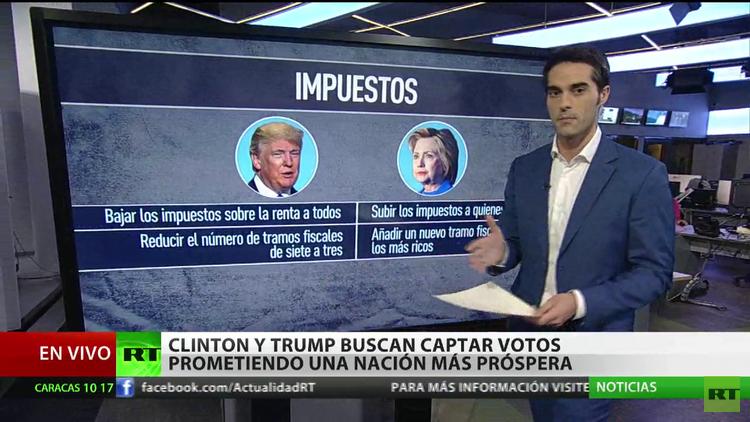 Clinton contra Trump: Comienza la lluvia de promesas electorales de los candidatos