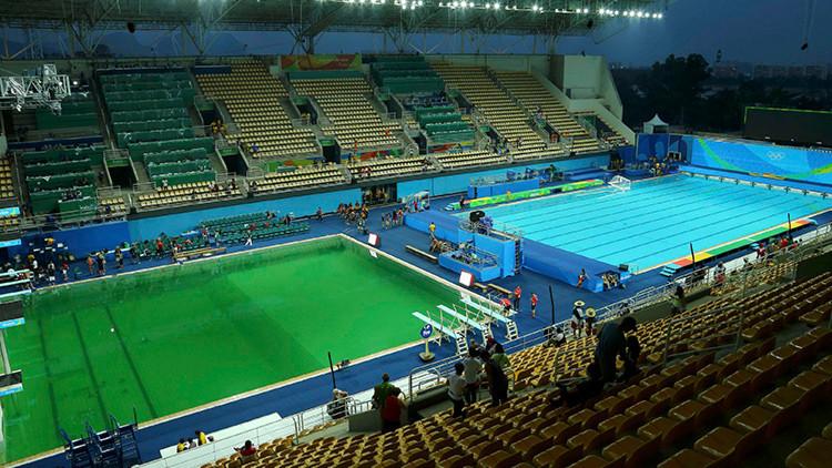 Un 'juego limpio' en Río 2016: cambian la polémica agua verde en una piscina olímpica