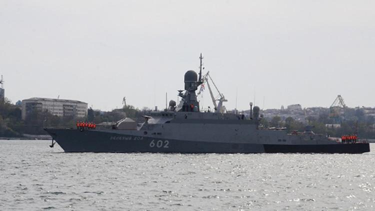 Una agrupación naval rusa comienza ejercicios tácticos en el Mediterráneo oriental