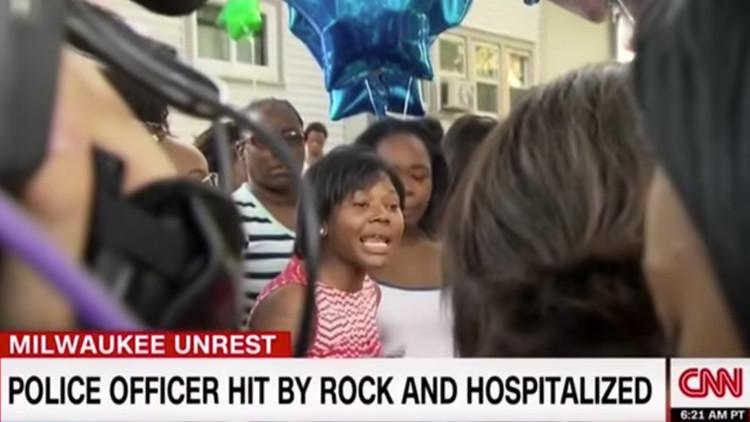 La CNN manipula unas declaraciones de la hermana del joven afroamericano tiroteado en Milwaukee