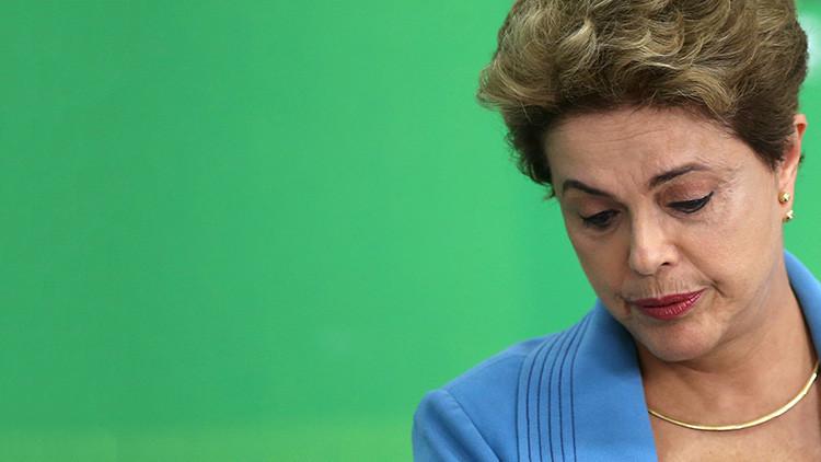 La presidenta de Brasil, Dilma Rousseff, que se encuentra temporalmente apartada de sus funciones.