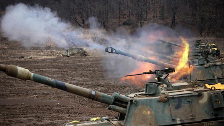 Corea del Sur inicia las mayores maniobras de artillería de su historia en la frontera norte