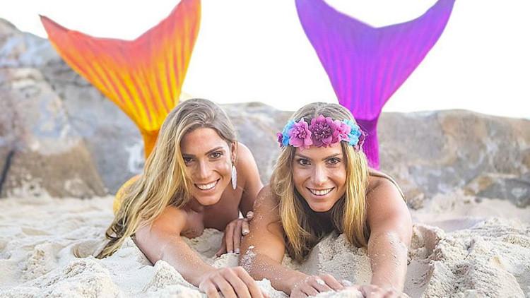 Las bellas gemelas brasileñas de natación sincronizada que causan furor en Instagram (FOTOS)