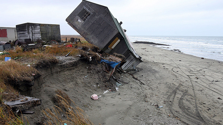 La aldea de Shishmaref, Alaska, EE.UU., 27 septiembre de 2006.