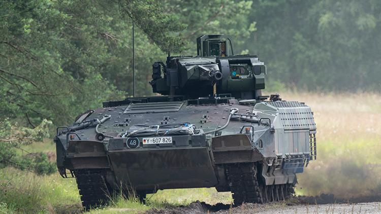 El 'orgullo de la Bundeswehr' necesita un chubasquero: el blindado alemán Puma sucumbe a la lluvia