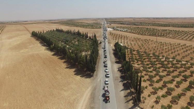 Así huyó el Estado Islámico tras la liberación de la ciudad siria de Manbiy (Fotos)