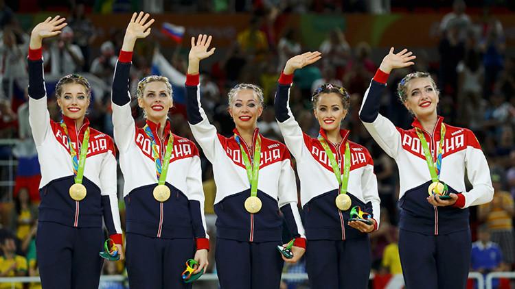 El equipo ruso de gimnasia rítmica gana el oro en los Juegos
