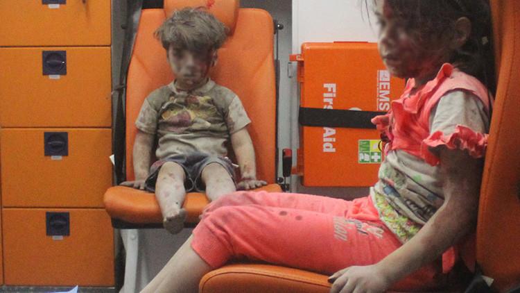 """""""Preludio de la guerra"""": Occidente """"explota de manera descarada"""" el sufrimiento de los niños sirios"""