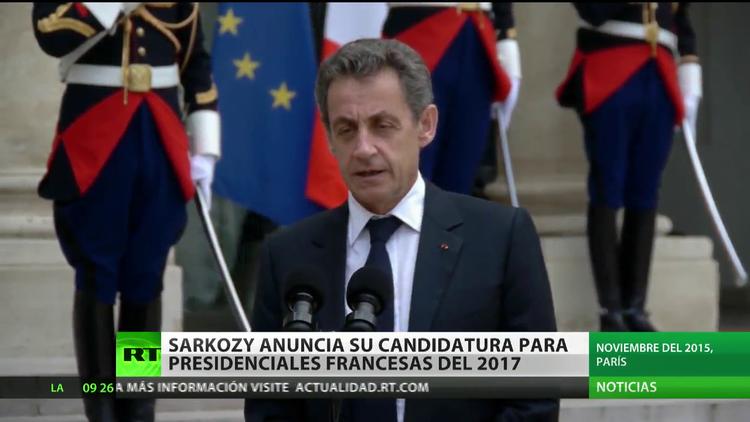 Francia: Nicolas Sarkozy anuncia su candidatura a las presidenciales de 2017