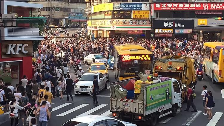 La aparición de un Snorlax en Pokémon Go provoca una estampida humana en Taipéi (VIDEO)