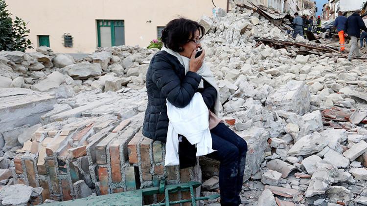 """PRIMERAS IMÁGENES: Una localidad italiana destruida y  """"desaparecida"""" por el terremoto"""
