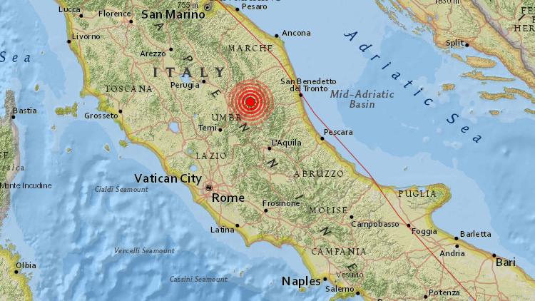 Italia sufre un nuevo terremoto de magnitud 4,9