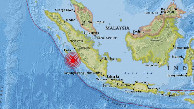 Un sismo de magnitud 5,8 sacude Indonesia