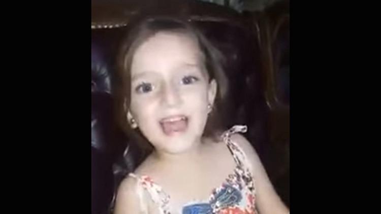 Video espeluznante: Una bomba interrumpe el canto enternecedor de una niña siria