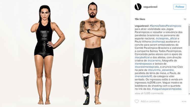 La revista 'Vogue' de Brasil retoca modelos perfectos con 'photoshop' para volverlos paralímpicos