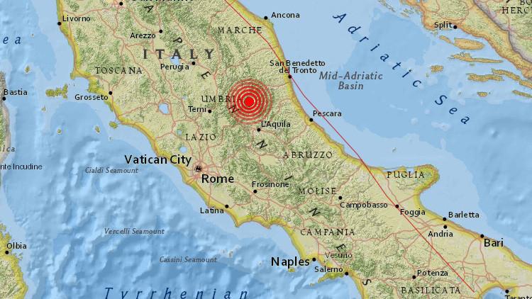 Un sismo de magnitud 4,6 sacude el centro de Italia