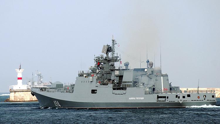 La fragata rusa Admiral Grigoróvich pone a prueba su arsenal en el mar Negro (VIDEO)