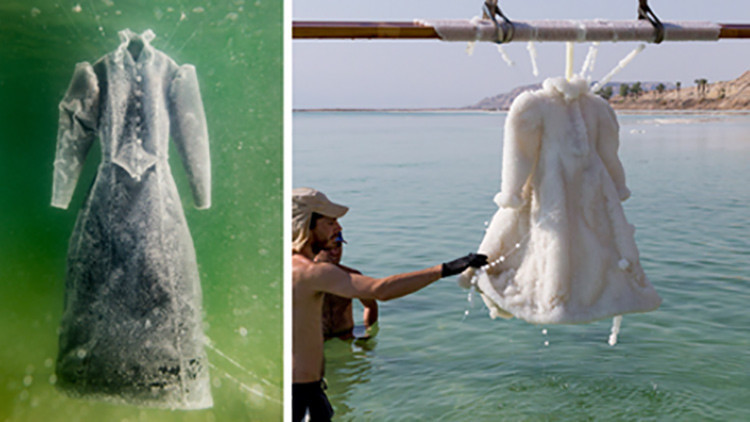 Experimento artístico: De traje negro de viuda a un vestido de novia en 2 años (Fotos)