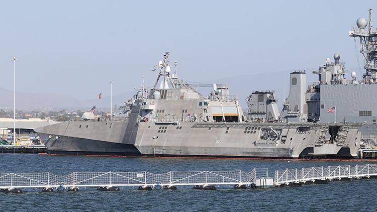 El buque de combate litoral estadounidense USS Coronado