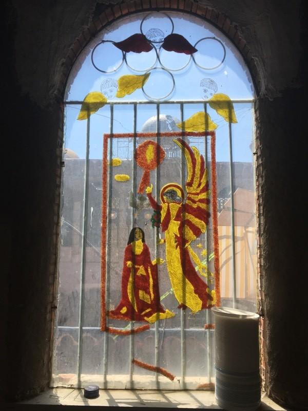 Vidriera de la Catedral de Justo.