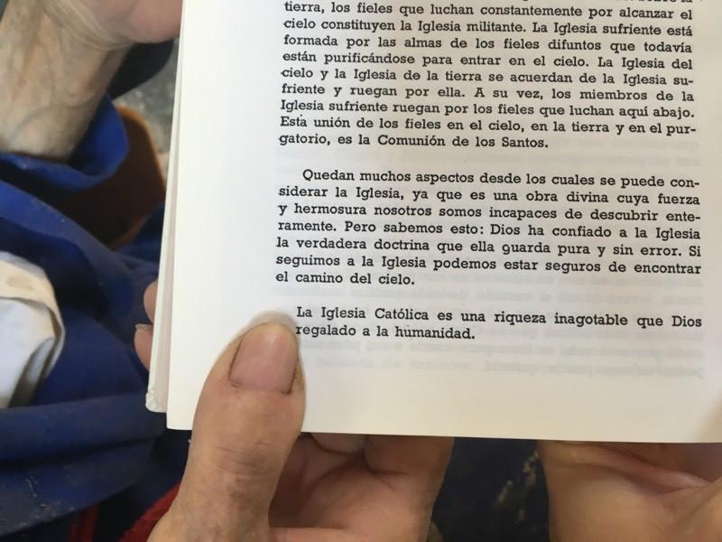 Justo Gallego nos señala una frase de su libro.