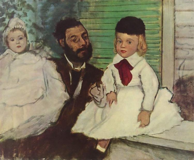 El conde Lepic con sus hijas (1871), de Edgar Degas