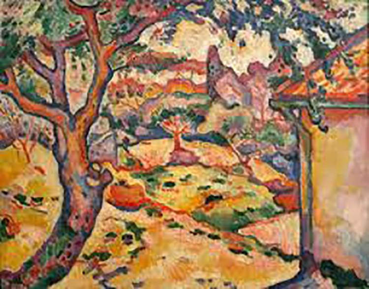 El olivo cerca del estanque (1906), de George Braque