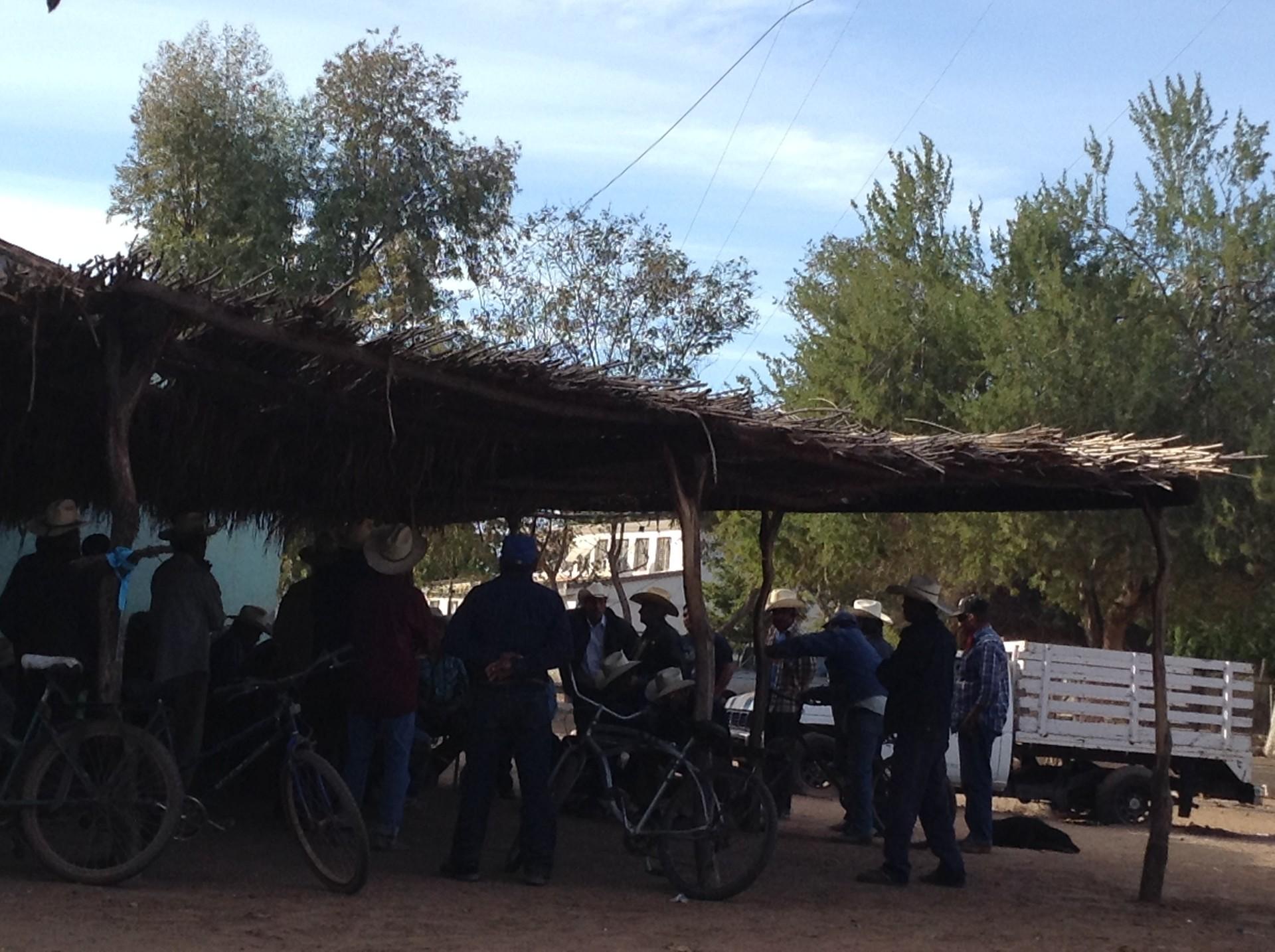 Enramada tradicional de la Tribu Yaqui de Sonora
