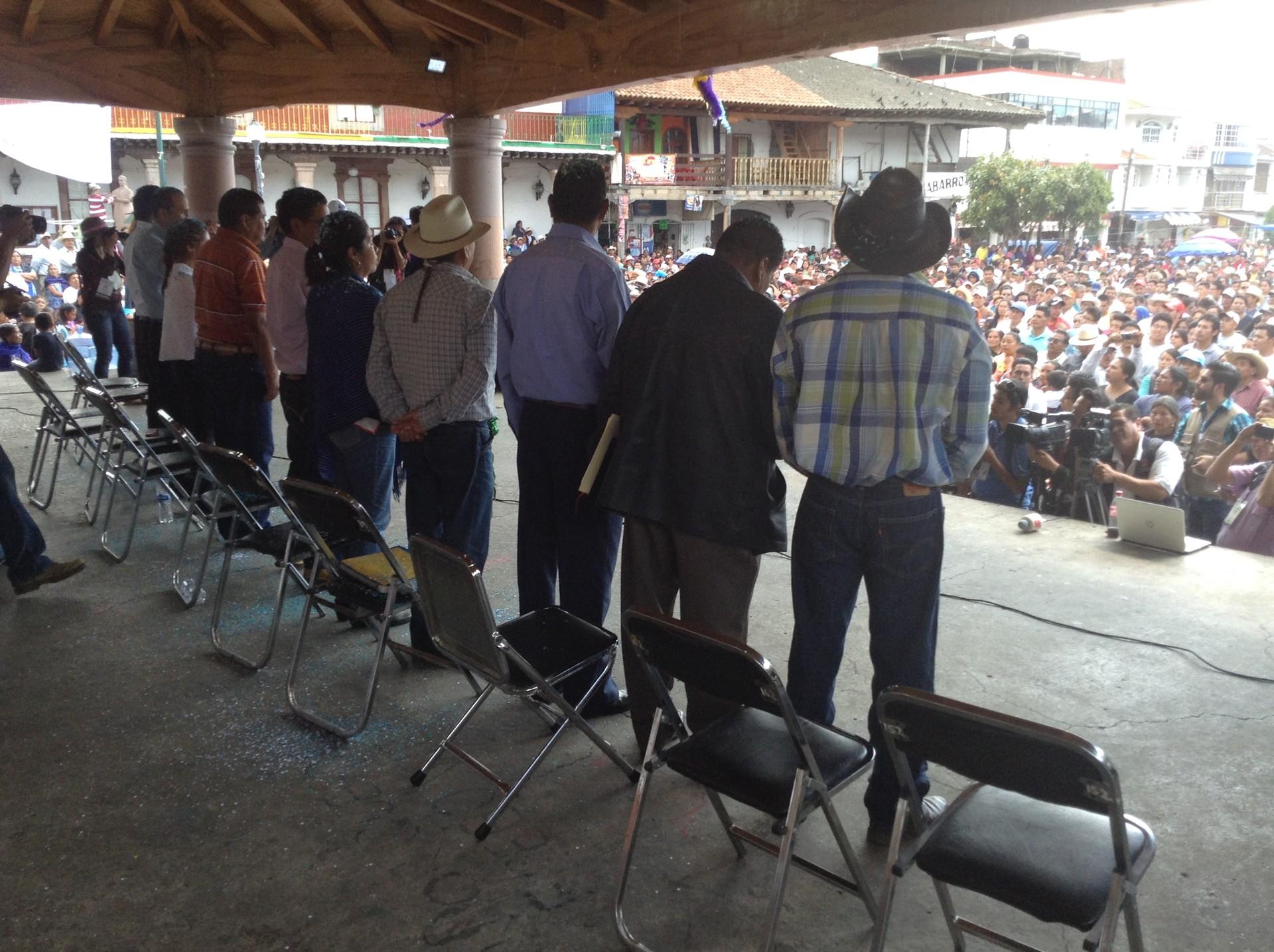 Elección por usos y costumbres en Cherán, Michoacán