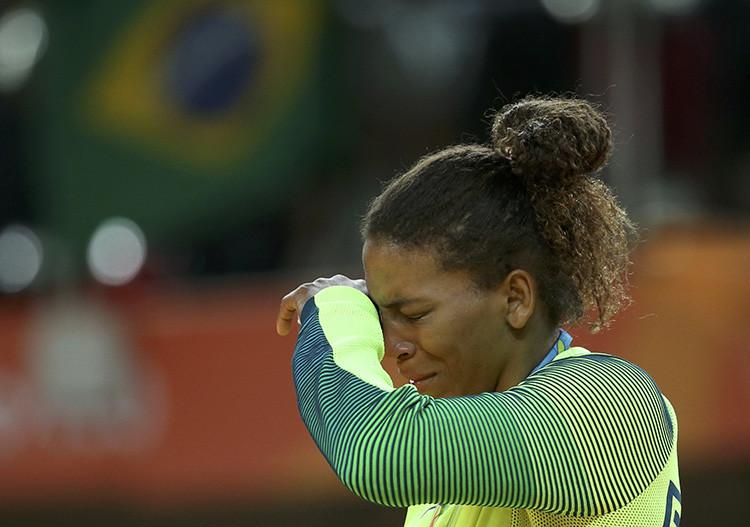 Ceremonia de premiación de Judo, en la categoría menos de 57 kilos en los Juegos Olímpicos de Río de Janeiro.