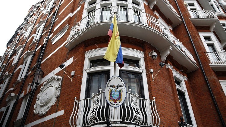 La Embajada de Ecuador en Londres, Reino Unido