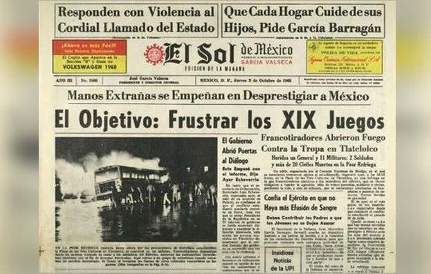 Portada del periódico El Sol de México