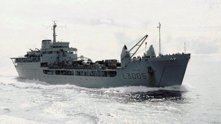 El buque britániсo RFA Sir Galahad.