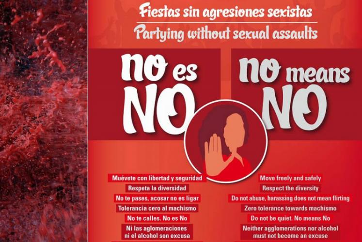 Cartel contra las agresiones sexistas