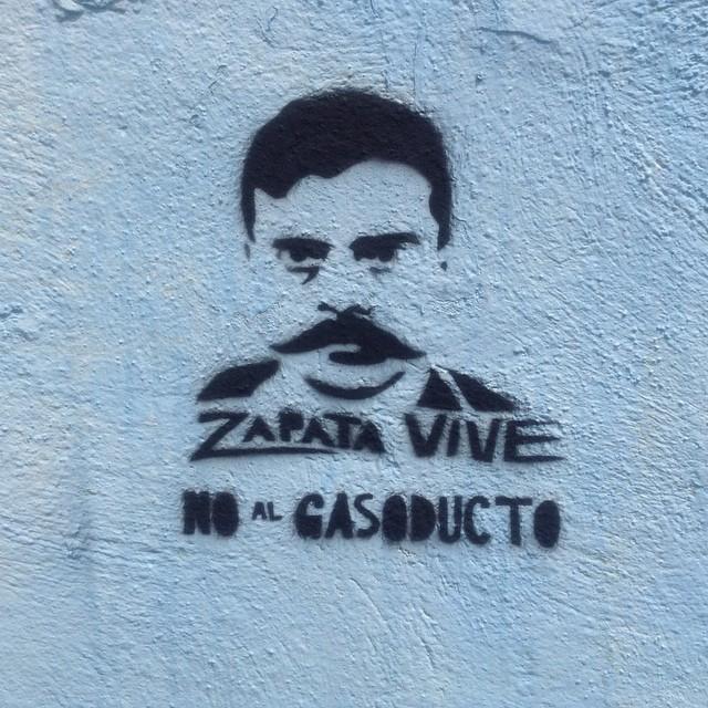 Pinta contra paso de gaseoducto en comunidades de Morelos.