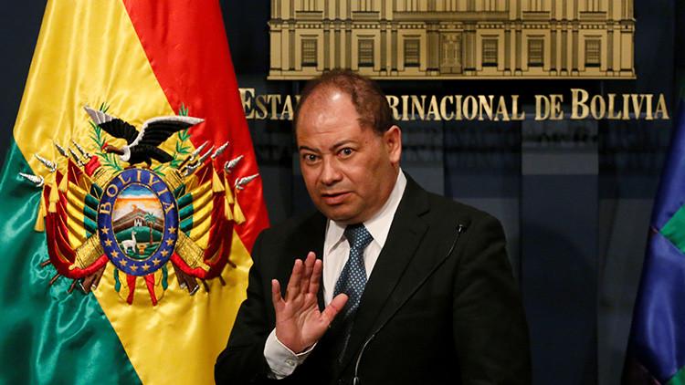 El ministro de Gobierno, Carlos Romero, confirma la muerte de Rodolfo Illanes en rueda de prensa
